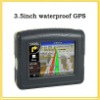3.5 inch IP45 waterproof GPS with Bluetooth +Free map for motorcycle and car YC-35WP