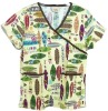 surf theme print scrubs sets