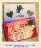 advertising heart shape chip plastic mood test card