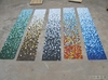 fade away color variation design glass mosaic tile for outter and inner decoration