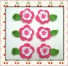 Hand apparel crochet flower applique