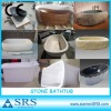 China polished solid granite and marble bathtubs