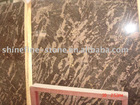 golden marble slab -Golden line coffe slab