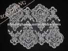 handmade embroidery lace with beads for wedding dress