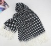 Black white dot printed Acrylic scarves 2012