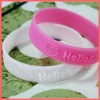 Embossed silicone bracelet for Couple & Teens