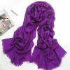 Newest Pretty Hot design Smoky gray CyanGraceful Fashion Polyester Scarves