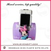 Micky shape design folding soft pvc mobile phone holder