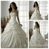 Ready to Ship Junoesque Strapless Beading Ruffe Taffeta Swarovski Crystal Wedding Dresses