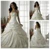 Ready to Ship Junoesque Strapless Beading Ruffe Taffeta Swarovski Crystal Wedding Dresses