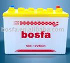 N90 12v 90ah lead acid car battery 12v90ah car battery