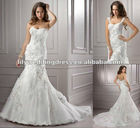 2012 Top Sell High Quality White Wholesale Mermaid Lace Wedding Dress
