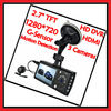 With HDMI Interface Dual Lens With External GPS HD 720P Car DVR
