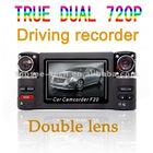 lastes 2.7 inch dual lens car dvr camcorder