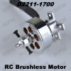 Electric Hobby DC Outrunner RC Brushless Motor D2211-1700