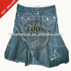 (#TG220S) 2012 new design corduroy flap back pockets indian skirts wholesale