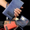 Tri-fold genuine leather wallet