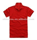 60% cotton 40% polyester button up polo shirts