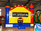 Commercial simple inflatable bouncing castle with step