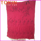 100% viscose fashion Embroidered Scarves