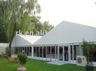 marquee tent with glass wall