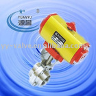sanitary pneumatic actuators control butterfly valve