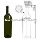 HT1030 glass bottle with corks
