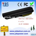 Rechargeable laptop battery 10.8v 5200mah for IBM/Lenovo 40Y6791 40Y6793 ASM 92P1122 ASM 92P1126 FRU 92P1121 FRU 92P1125