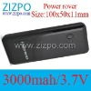 3000mAh 5v1a power bank Battery Charger power rover Portable Power Source