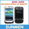 Portable 3200mAh external battery case for glaxay S3 i9300