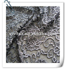 70% Ctn 25% nylon 5% spandex lace fabric with foil