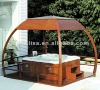 Outdoor wood arbor ligneous gazebo wood gloriette wooden kiosk M-903