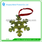 zinc alloy snowflower pendant