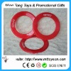 Plastic flying frisbee ring