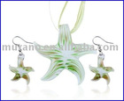 Murano glass jewelry set 137