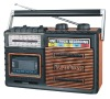 Portable multi bands radio cassette recorder with USB/SD/MMC