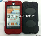 Dual color case for touch 5.Robot Hybrid Cover For iPod Touch 5