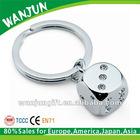 2012 hottest zinc alloy promotional dice keychain