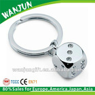 2012 hottest zinc alloy promotional dice keychain