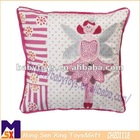 embroidered cartoon character soft cushions home decorate cushion