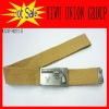 Alloy Buckle Beige Canvas Belts