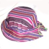 colorful strip pattern summer cotton hat