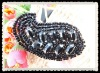 handmade beautiful bead and rhinestone applique for decoration