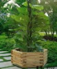 outdoor wooden hexahedral christmas tree planter