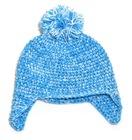 Crochet Newborn Hat with Jumbo Pompom