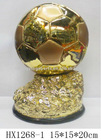 SOCCER/FOOTBALL RESIN TROPHY/HX1268-1
