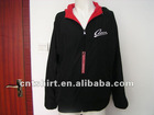 Cheap nice black plain 100% polyester hoodies for sale