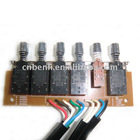 Cooker hood push button switch