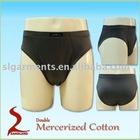 Double mercerized cotton mens underwear briefs