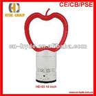 Bladeless Fan of 10 Inch Apple Shape with CE Certificate